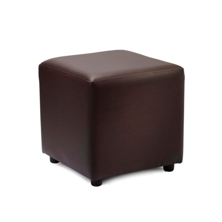 New POP Brown High Quality Faux Leather Cube