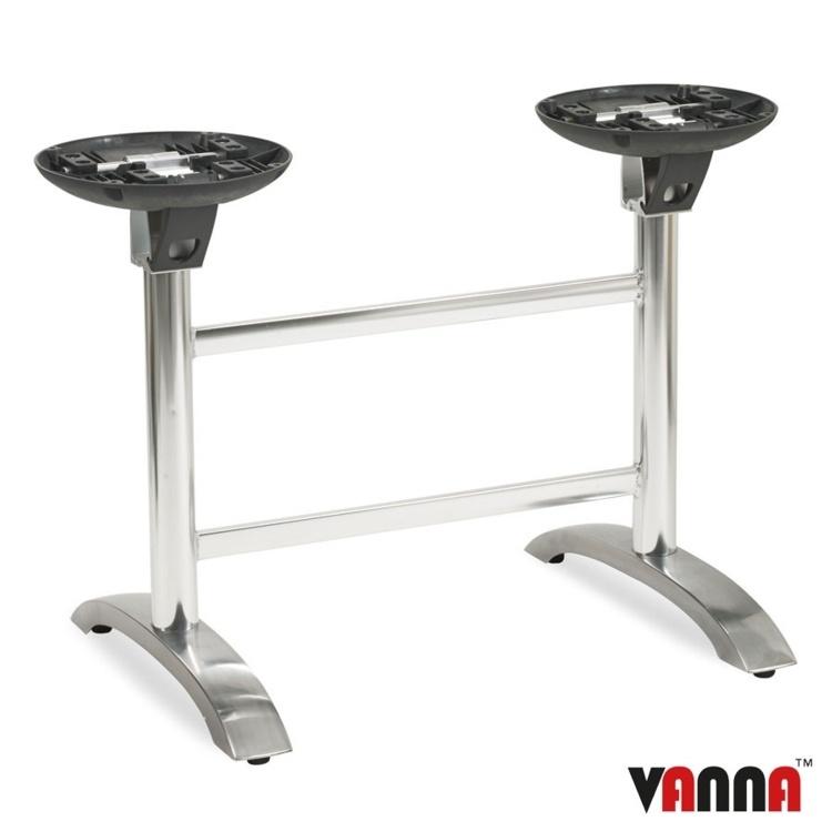 New SPACEGUARD Aluminium Flip Top Deluxe Double Table Base