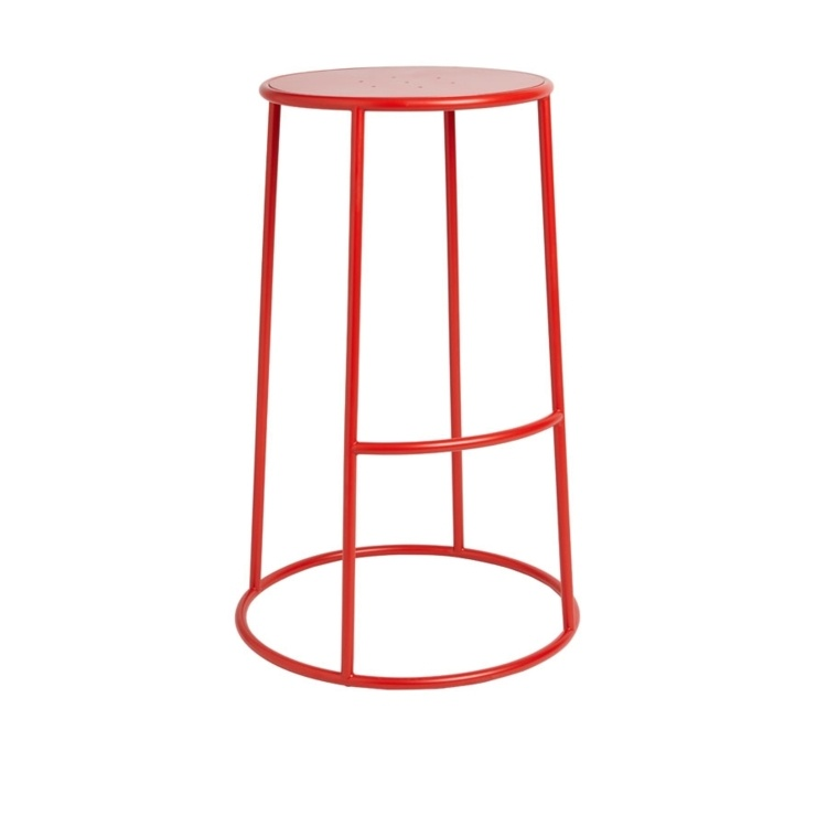 New MAX 75 Red Industrial Designer canteen café High Stool