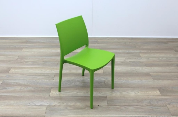New Lime Green Moulded Plastic Stacking Office Canteen Cafe Meeting Side Chairs : lime green plastic chairs - Cheerinfomania.Com