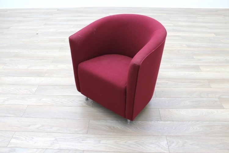 Orangebox Abbey Red Fabric Office Reception Tub Chairs