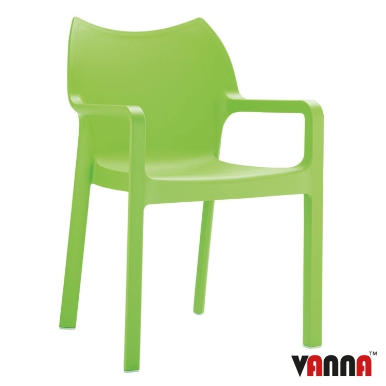 New Green Moulded Plastic Stacking Office Canteen Cafe Bistro Meeting Arm Chairs