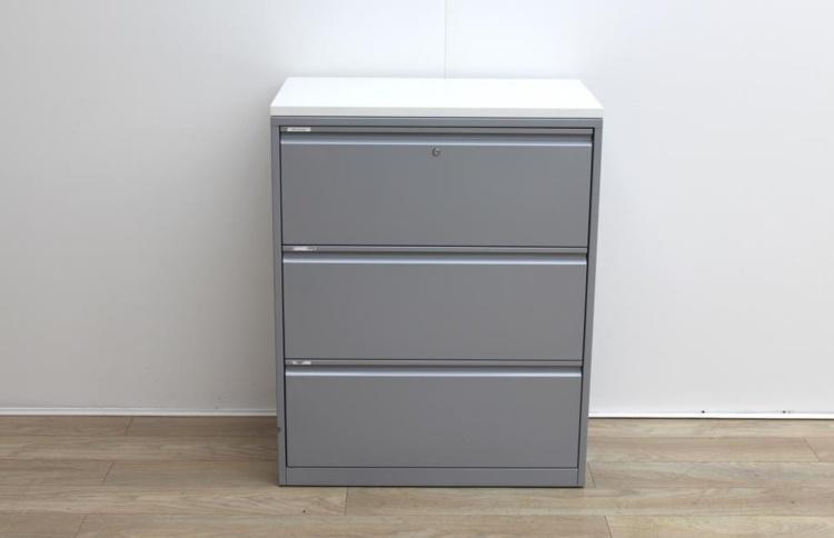 Metal grey filing cabinet