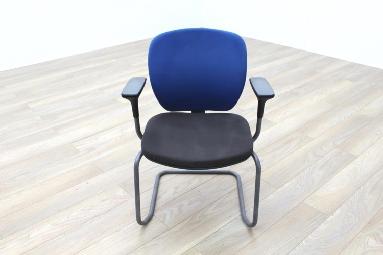 Orangebox Joy 06 Blue/Black Fabric Office Meeting Chairs