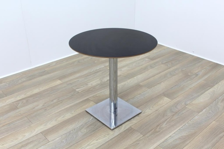 Jet Black Round Table 750mm