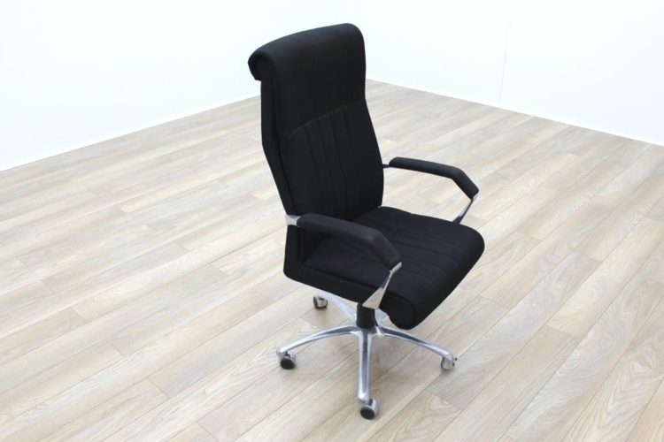 President High Back Black Fabric Executive Office Task Chair