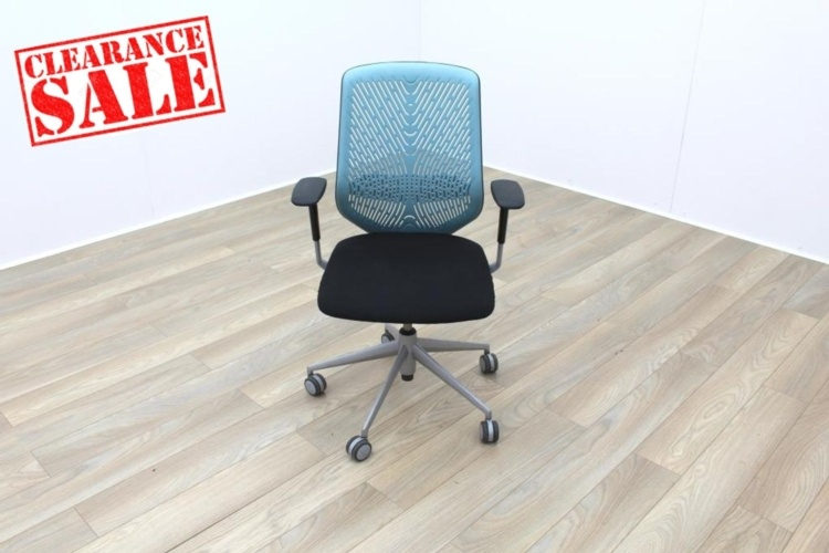 Actiu TNK Black Fabric Seat / Aqua Aero Back Office Task Chairs