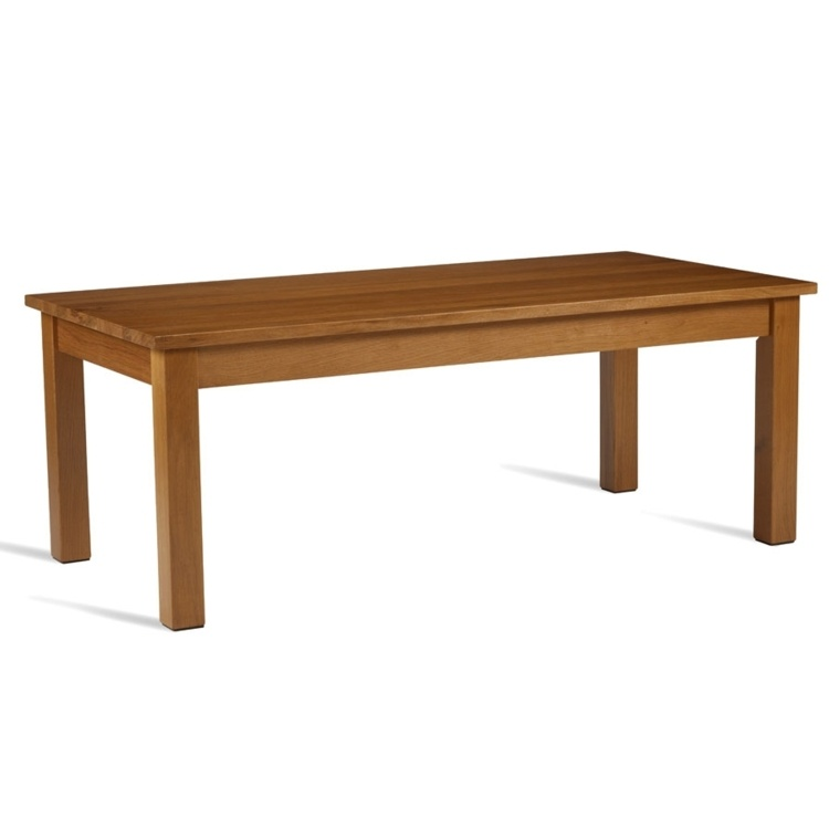 New HUNT Solid Light Oak Rectangular High Quality Coffee Table