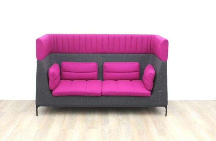 Pink Allermuir receptions sofas