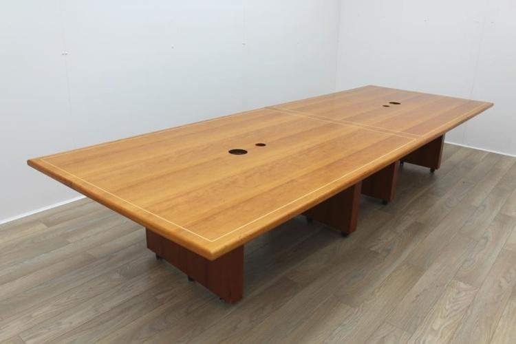 Sven Christiansen Inlaid Cherry Office Meeting Table