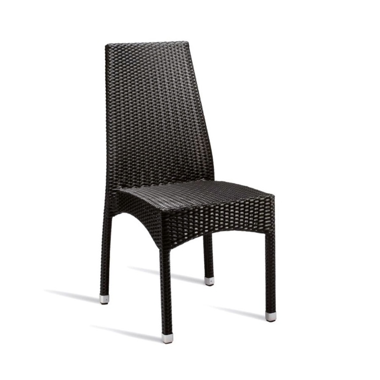 New Black Wicker Solana Weave Rattan Style Office Garden Canteen Cafe Bistro Dining Chairs