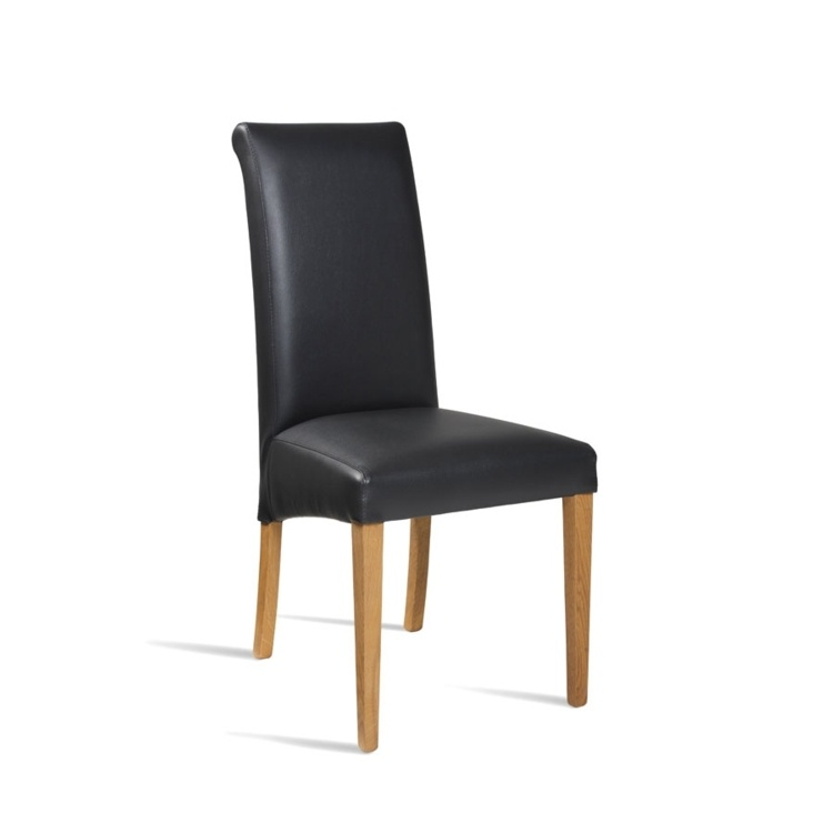 New LYNX Black Luxurious Upolstered High Quality Faux Leather Side Chair