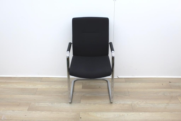 Black Meeting Chairs With Chrome Legs