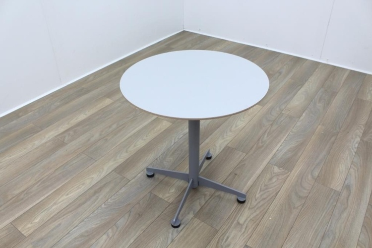 Brunner White Round Coffee Table Foldable