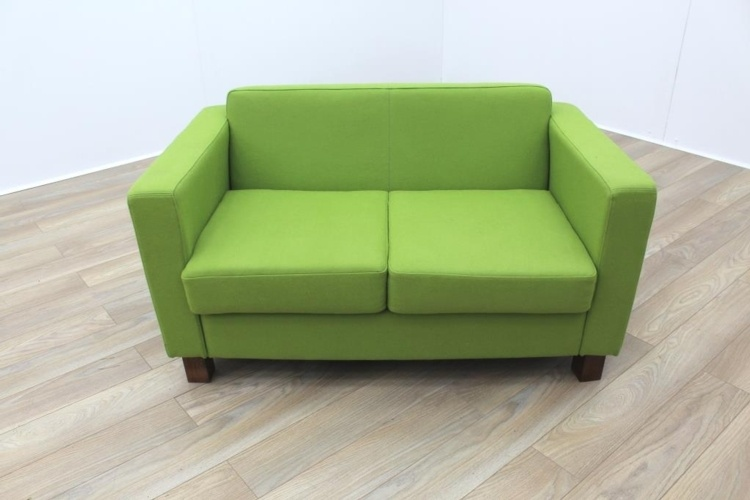 Lime Green Fabric Funky Office Reception Sofa - Green