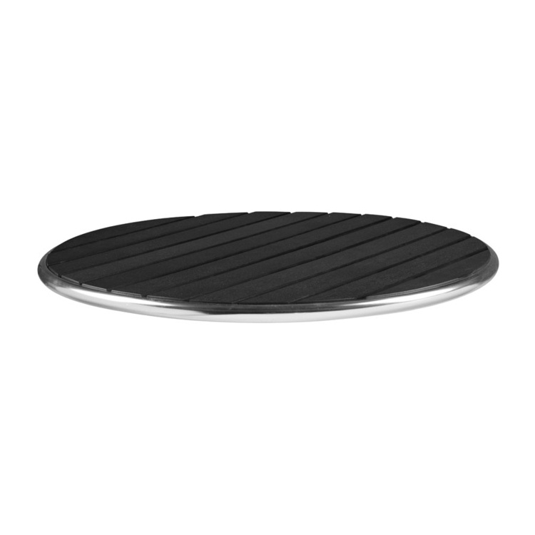 New LIKEWOOD Black 800mm Dia Round Table