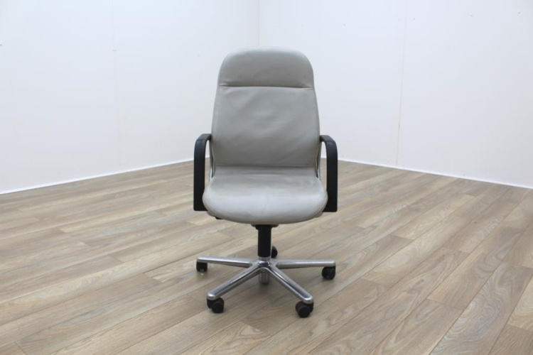 Wilkhahn FS Line Grey Leather Executive Office task Chair