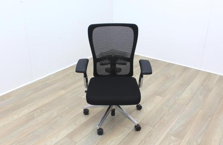Haworth Black Mesh Black Fabric Operator Chair