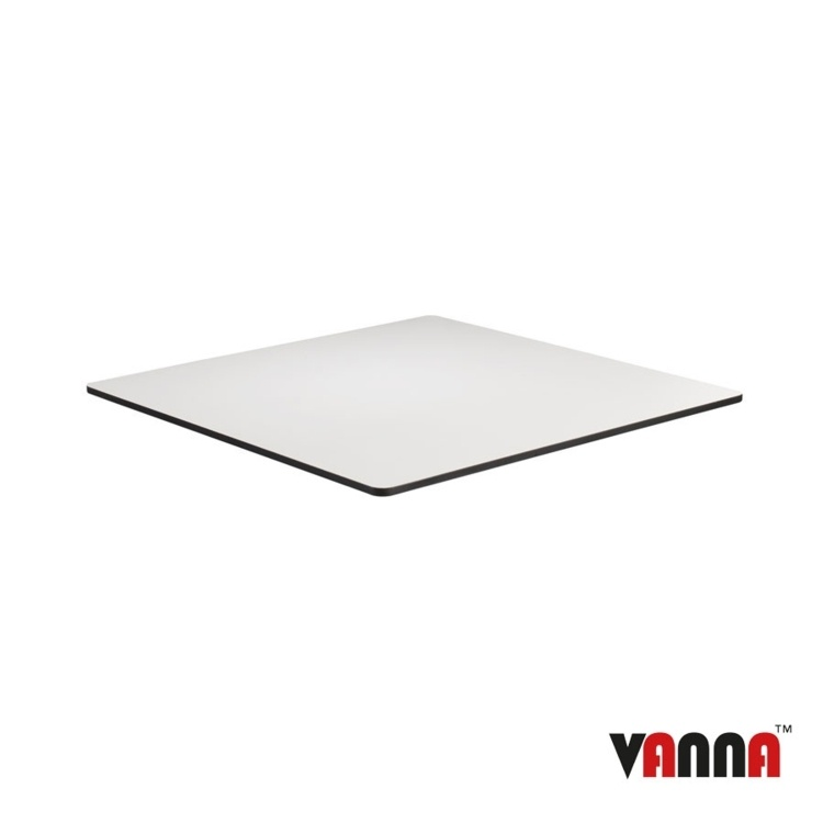 New EXTREMA White 690mm Square Table