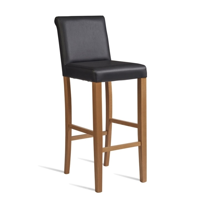 New LYNX Black Luxurious Upolstered High Quality Faux Leather Bar Stool