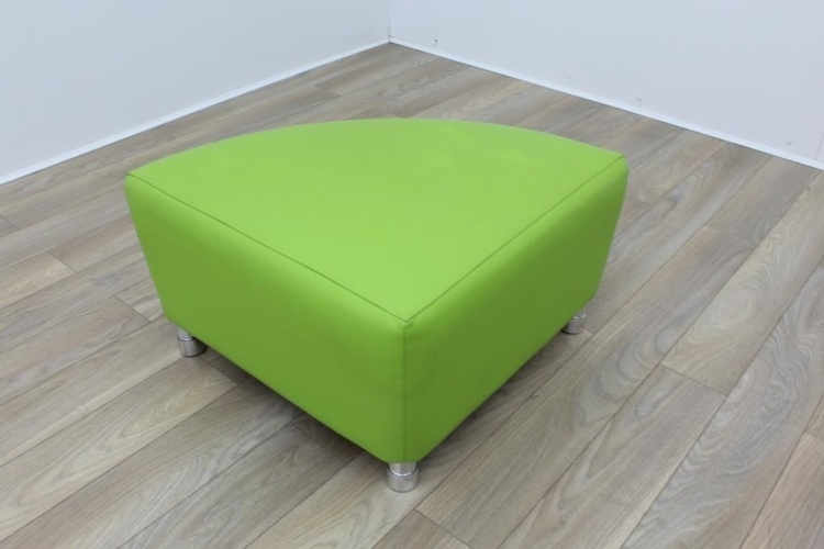 Boss Green Leather Reception Soft Chair