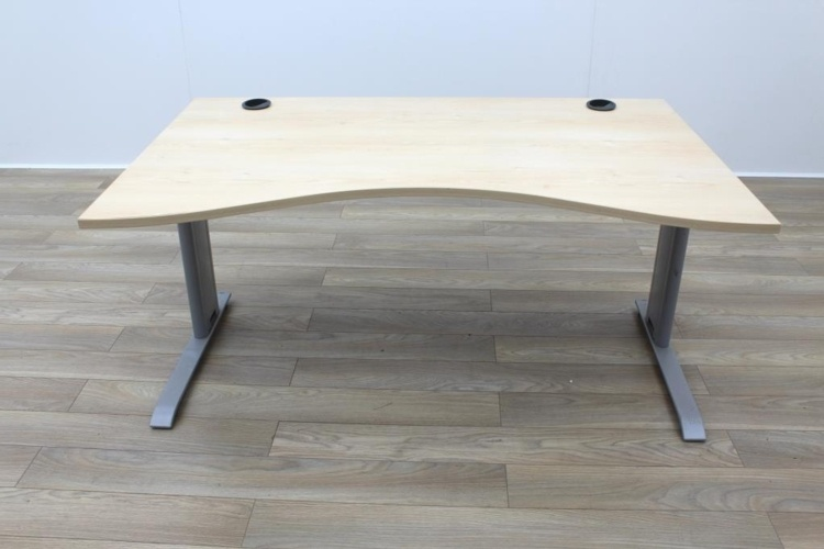 Maple 1600mm Double Wave Office Desks