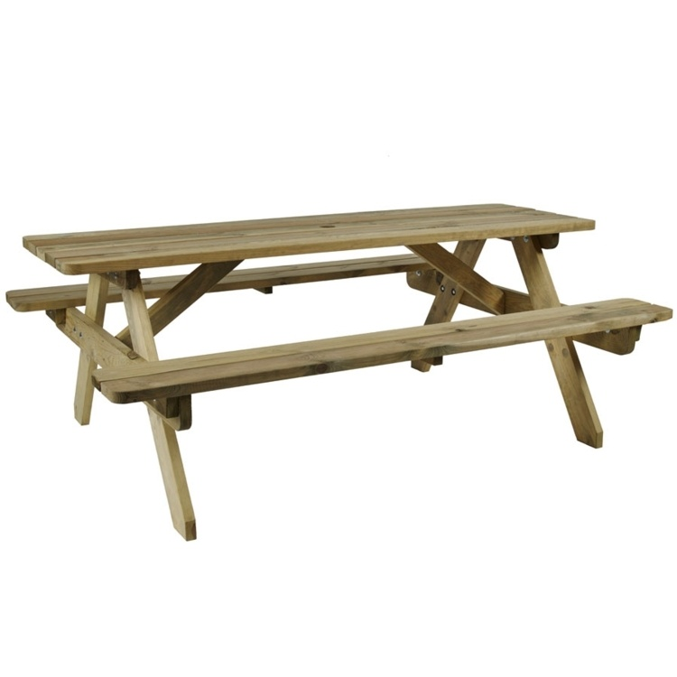 New HEREFORD Timber 8 Seater Picnic Bench