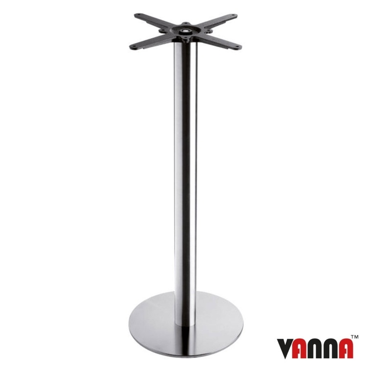 New BOSTON Brushed Steel Small Round Poseur