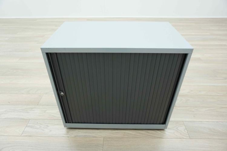 Grey Metal Desk Height Tambour Office Storage Cupboards