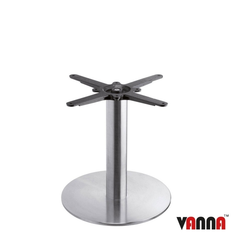 New BOSTON Brushed Steel Small Round Coffee Table Base