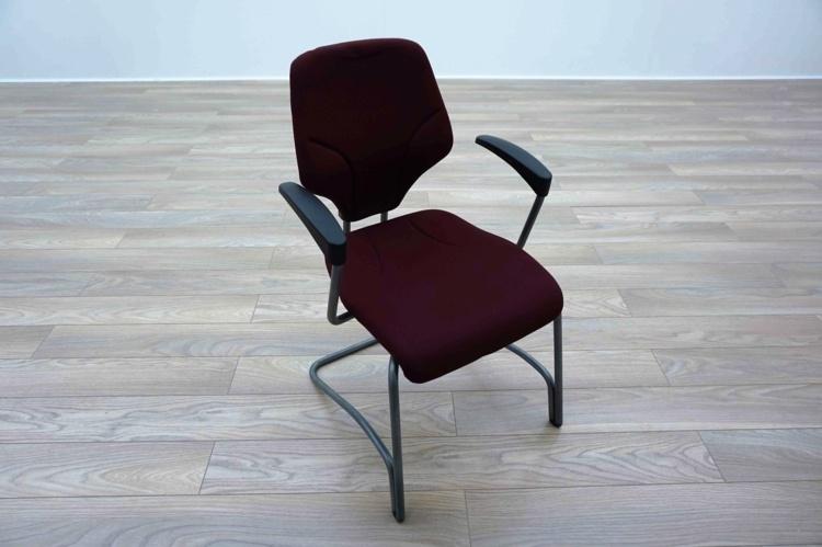 Giroflex G64 Cantilever Burghundy Office Meeting Chair
