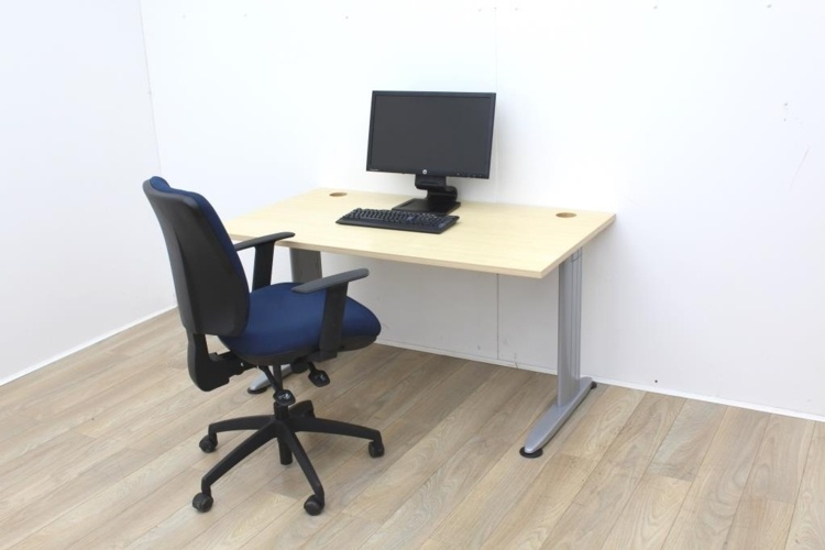 Maple Home Office With Cable Port