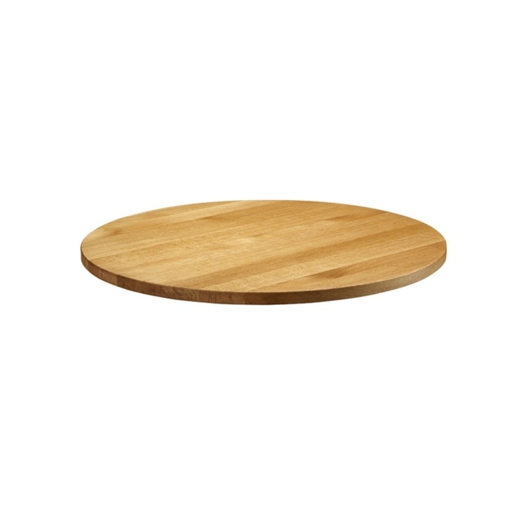 New Natural Lacquered Deluxe 900mm Round Solid Oak Table Top