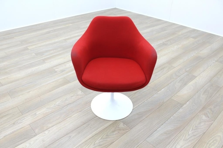 Red / White Funky Modern Tulip Style Office Reception Tub Chair