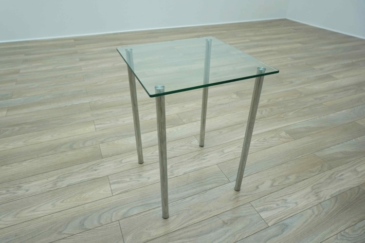 Square Glass Office Coffee / Breakout Side Table