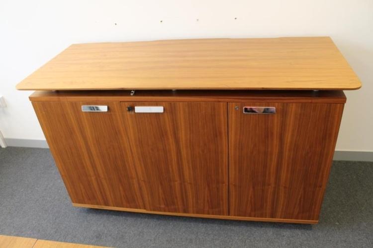 Walnut Verco Executive Office Storage / Credenza Cupboard