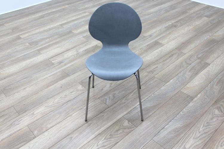 Galvano Tecnica Grey Italian Stackable Office Canteen Chairs