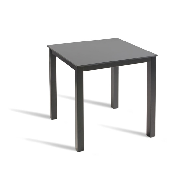 New FLINT Powder Coated Extrema Top and Paris Base Canteen 2 Seater Square Dining Table
