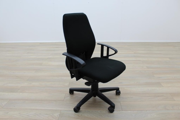 Black Fabric Multifunction Office Task Chairs