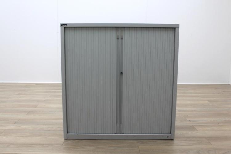 Triumph White Metal 1050mm Tambour Office Storage Cupboards