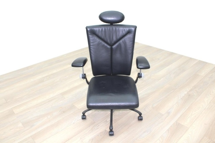 Vitra Black Leather Executive/Operator Chair