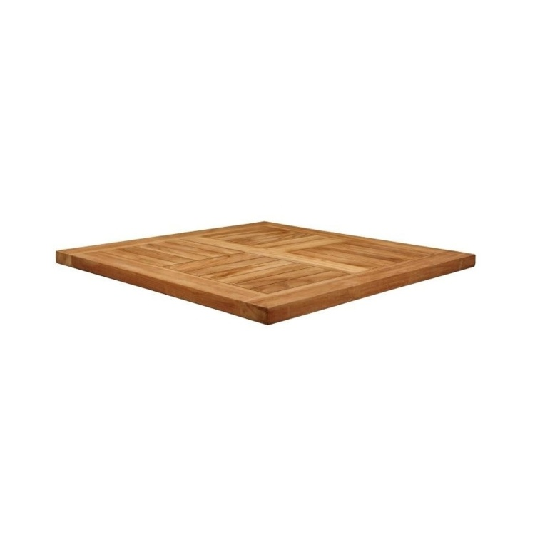 New MALAY Teak 700mm Square Table Top