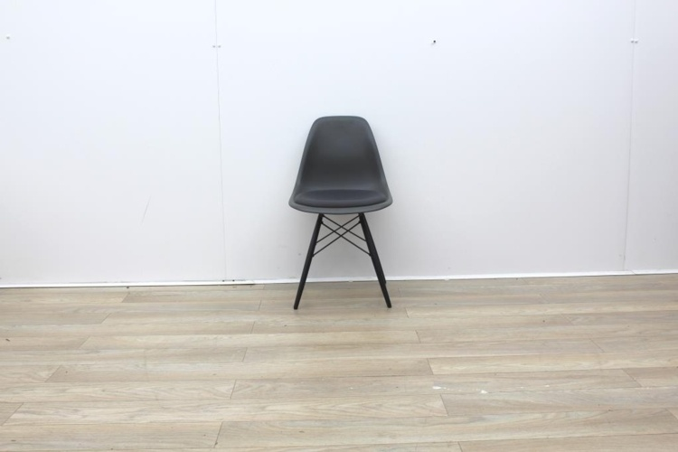 Vitra Grey Canteen Chair With Material Seat