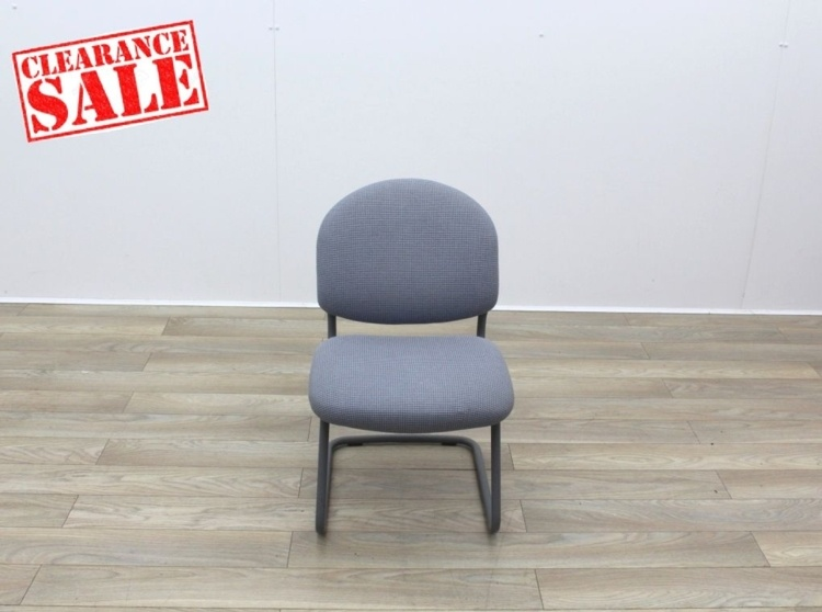 Grey Meeting Chairs With Black Frame