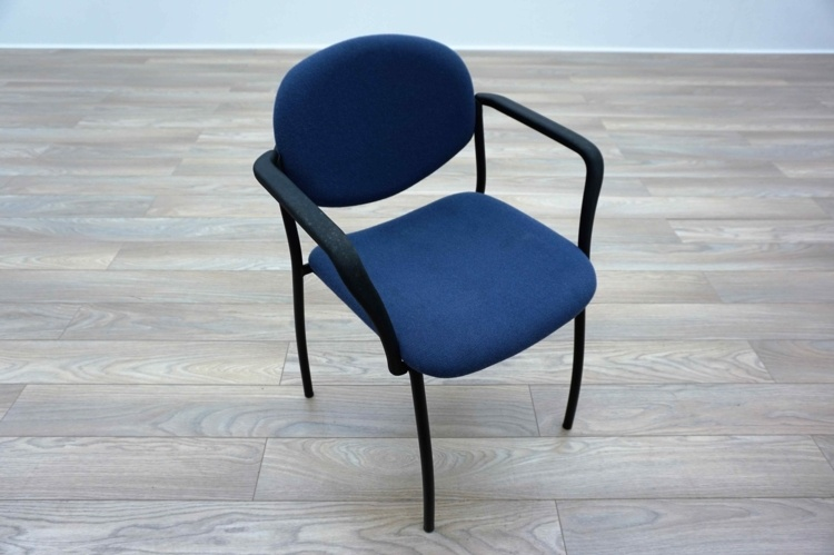 Blue Fabric Cantilever Office Meeting Chairs