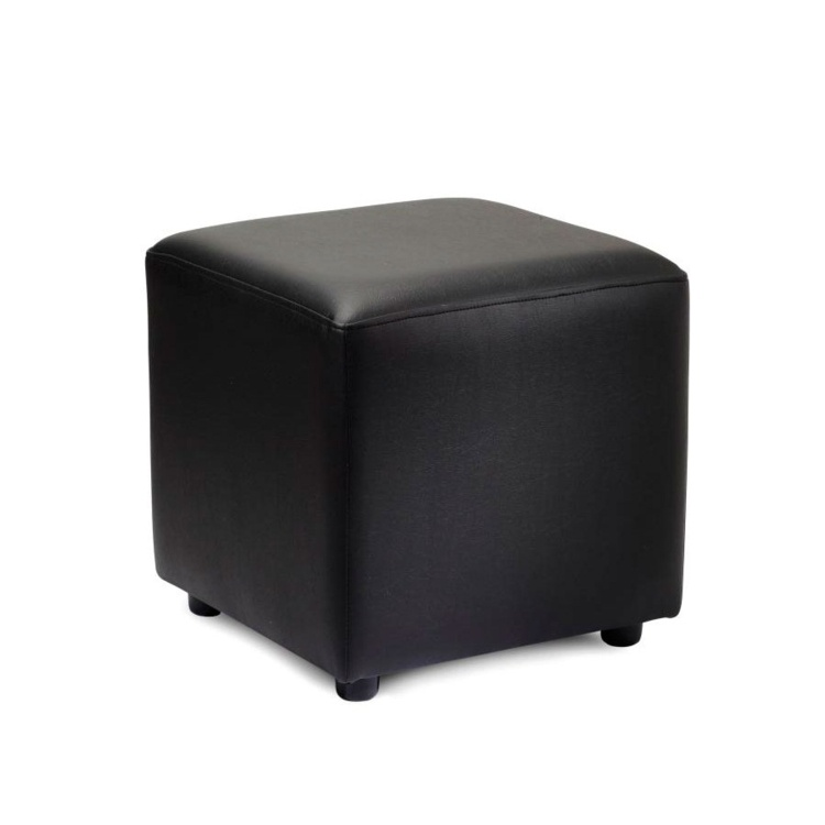 New POP Black High Quality Faux Leather Cube