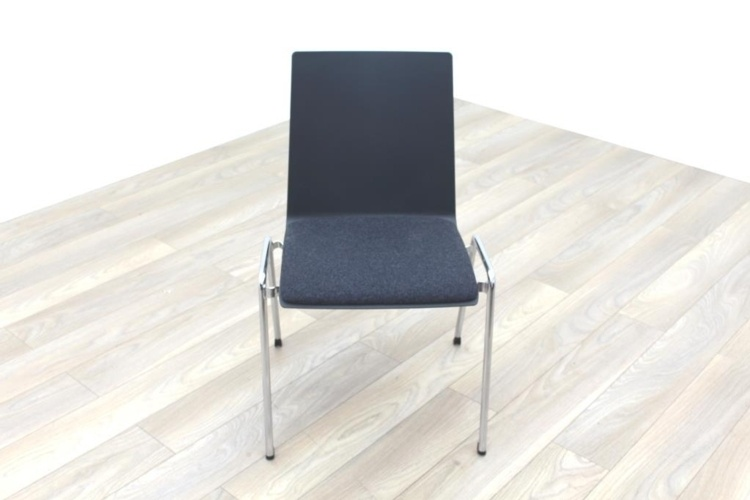 Brunner Dark Grey Fabric Seat Meeting Chair