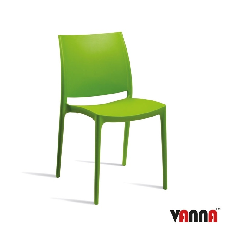 New Green Moulded Plastic Stacking Office Canteen Cafe Bistro Meeting Chairs