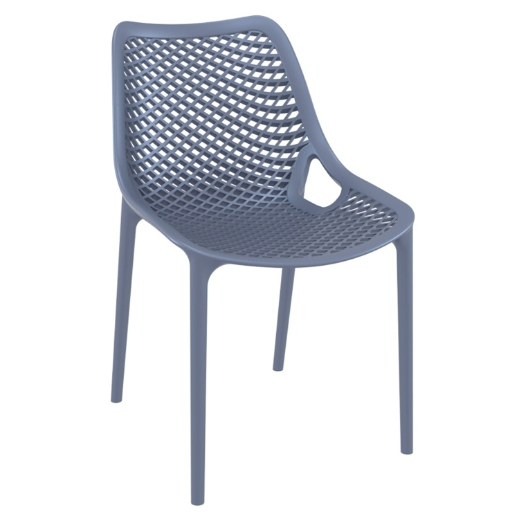 New Anthracite Reinforced Polypropylene & Glass Fibre Stacking Office Canteen Cafe Bistro Chairs