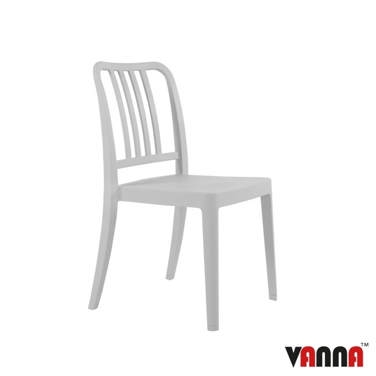 New Grey Reinforced Polypropylene Stacking Office Canteen Cafe Bistro Meeting Chairs